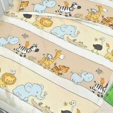 Baby Bettwäsche 100x135 cm Tiere Zebra, Elefant, Löwe und Co. natur Biber B-Ware