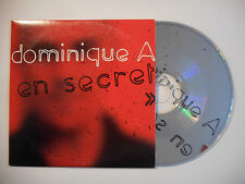DOMINIQUE A : EN SECRET ♦ CD SINGLE PORT GRATUIT ♦