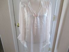 CACIQUE LINGERIE Satin Lace Top Oversized Pajama Top Small