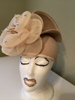 Cute Dark Beige Wool Deborah Of New York Dress/Church Hat