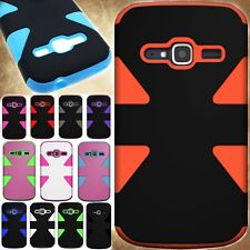 Dual Layer Tough Phone Cover Case Protective Hybrid Armor for ZTE Concord 2 II