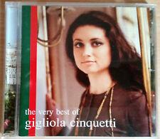 GIGLIOLA CINQUETTI The Very Best Of CD JAPAN Giuseppe In Pennsylvania IL Condor