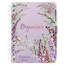 Purple Meadow & Garden Leaf Notebook Weekly Planner Diary Ring Binder Organiser