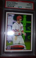2012 Topps #661 Bryce Harper Screaming Nationals RC Rookie PSA 10 Phillies