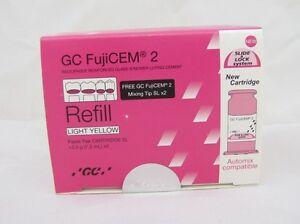 Dental GC Fuji Cem Refill 2 Paste Pak Automix Compatible CARTTEIDGE cement