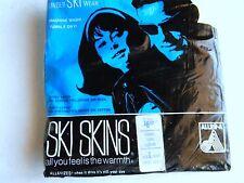 NOS Vtg Womans Thermal Ski Skins 1970's Yellow Underwear Long Sleeve Shirt L