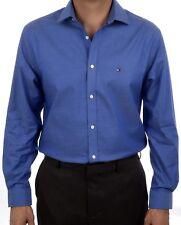 3856849a65986c Tommy Hilfiger 100 Cotton Easy Care Slim Fit Men s Dress Shirt 24n0314 Navy  32 33