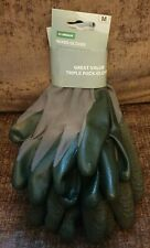 Homebase Triple Pack Mixed Gardening Gloves Medium Garden Home Green New