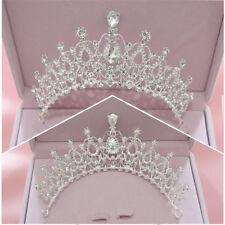 Birthday Diadem Wedding Bridal Crown Crystal Rhinestone Water Drop Shape Tiara