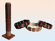 24x Armband Holzarmband Union Jack Vintage Armbänder inkl Ständer 24stck NEU