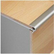 Dural StepFloor Stylish Anodised Silver Stair Nosing Edge Trim for 8mm Laminate