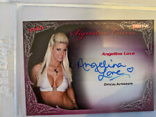 TNA Wrestling Autograph Card Knockouts Signature Curves Angelina Love KA1 Signed