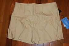NWT Womens 2 SIMPLY VERA WANG Beige Pleated Shorts