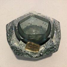 Murano Hand Worked Smokey Glass Bowl/Tea Light Holder. Made in Italy #403