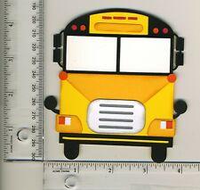 School Bus Paperpiecings Premade for Scrapbooking Paper Piecings CBL #8