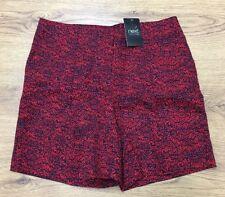 ✨ NEXT Women's Short Shorts Hot-pants Red & Black Size 8 UK BNWT