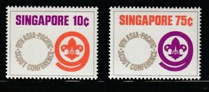 Singapore   1974   Sc # 210-11   Scout   VLH   OG   (8047-4)