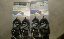 (LOT OF 2) Nite Ize CamJam Cord Tightener 4-Pack w/ BONUS Cord, NCJ2-03-01, NEW!