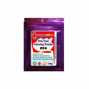 Food Colouring 10g Powder Concentrated Pure for Craft Cake Baking Icing Desserts