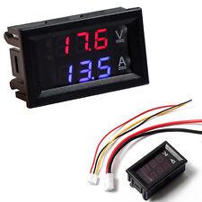 DC 100V 10A Voltmeter Ammeter Blue+Red LED Dual Digital Volt Amp Meter Gauge