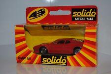 SOLIDO PORTUGAL REF 1209 BMW M1 ROUGE TBE EN BOITE miniature  1/43