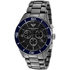 EMPORIO ARMANI AR1429 Black Tone Chronograph Ceramic Men's Wrist Watch