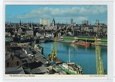 THE HARBOUR AND CITY OF ABERDEEN: Aberdeenshire postcard (C23285)