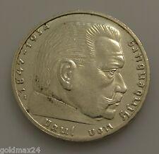 Drittes Reich 2 Reichsmark Silbermünze 1938 A- Hindenburg