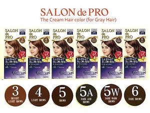 [DARIYA SALON de PRO] The Cream Hair Dye Color Kit for Gray Hair JAPAN NEW