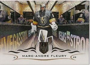 Marc-Andre Fleury 2018-19 UD Speckled Rainbow Foil #184 Vegas Golden Knights SP!
