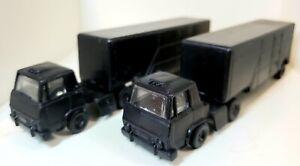 2 Vintage BACHMANN HO 1:87 Trains Semi Trucks-Plastic-Made in Hong Kong-RARE