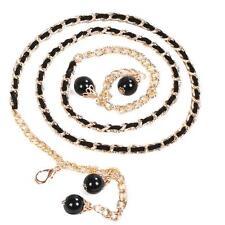 Elegant Women's Lady Pear Metal Chain Casul Style Dress Body Chain Waist Belt