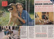 Coupure de presse Clipping 1995 Didier Derlich je suis séropositif  (4 page)