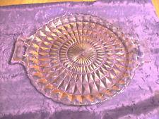 Vintage Windsor Diamond Pink Depression Glass Serving Tray