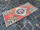 Vintage from 1950s, %100 wool handmade Turkish vintage rug   1,3 x 2,7 ft