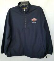 North End Mens Black Shirt Pullover 1/4-Zip Logo Drawcord Hem Size XL
