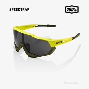 100% SPEEDTRAP Cycling UV Sunglasses SOFT TACT BANANA/BLACK MIRROR