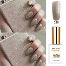 RS Nail 258 Gel Nail Polish UV LED Sequined Varnish Soak Off UV Gel Colour 15ml