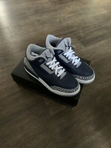 Brand New Nike Air Jordan 3 Retro Georgetown Navy Blue GS Size 7Y 398614-401