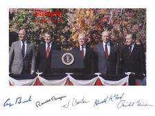5 PRESIDENTS Bush Reagan Carter Ford Carter Signed Autographed Reprint Photo