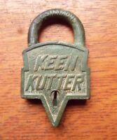 Antique Brass Keen Kutter Padlock Pat.1906 Simmons Hardware
