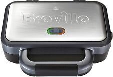 Deep Fill Sandwich Toaster Toastie Maker with Removable Non Stick Plates 2 Slice