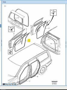 Genuine Volvo RHF Door Weather Seal V70 S60 XC70 8663774