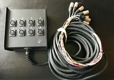 LIVE WIRE ADVANTAGE 8 CHANNEL SNAKE 50ft. AUDIO MIXER 3 PIN CONNECTORS MK OFFER!