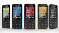 """Brand New Nokia 208 2.4"""" 3G - Basic Mobile Phone FM radio - Unlocked NOKIA PHONE"""