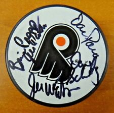 Philadelphia Flyers Broad Street Bullies Signed Hockey Puck Signed by 5