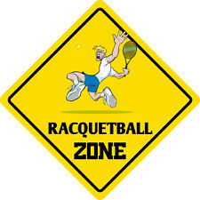 """*Aluminum* Racquetball Zone Funny Metal Novelty Sign 12""""x12"""""""