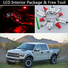 7PCS RED LED Interior Light Package kit Fit 2010-2014 Ford Raptor or F-150 J1