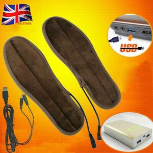 Heated Shoe Insoles USB Electric Powered Film Heater Feet Warm Socks Pads Foot