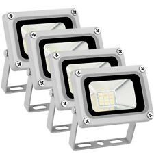 4x 10W 12V LED Flood Light Cool White Outdoor Garden Yard Spot Lamp Waterproof